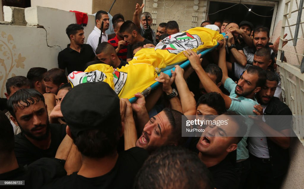 Funeral Of Palestinian Was Shot Dead By Israeli Soldiers