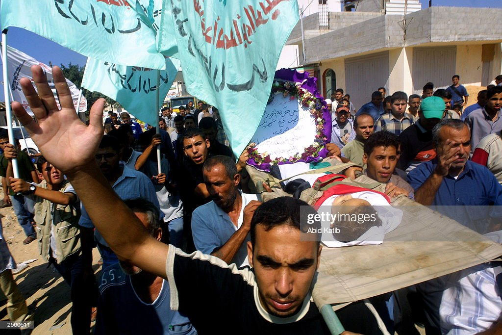 Palestinians Attend Funeral For 18-Month-Old Killed By Israeli Bullet : News Photo
