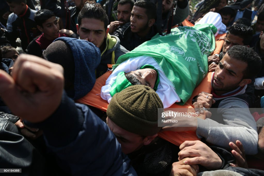 Funeral Palestinian teenager shot dead in Gaza
