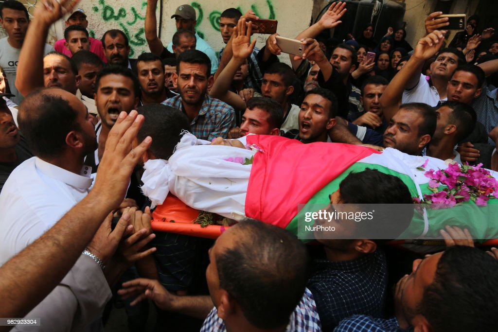 Funeral Of Palestinian Killed During Clashes At Border