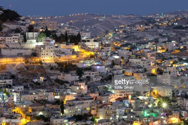 palestinian neighborhoods in east jerusalem - east jerusalem stock pictures, royalty-free photos & images