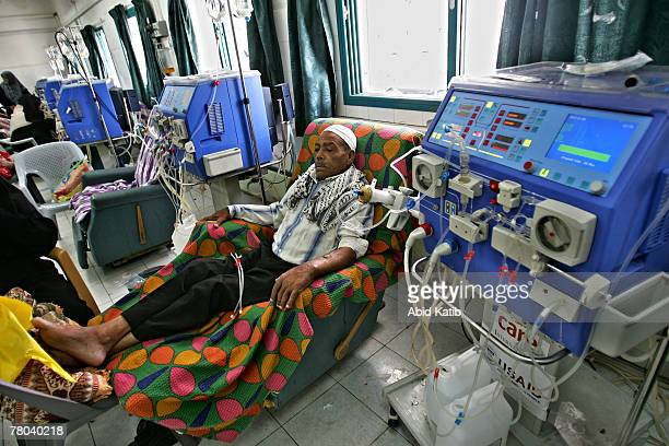 Palestinian patient has kidney dialysis in the kidney department at the AlShifa hospital November 21 2007 in Gaza the Gaza Strip There are more than...