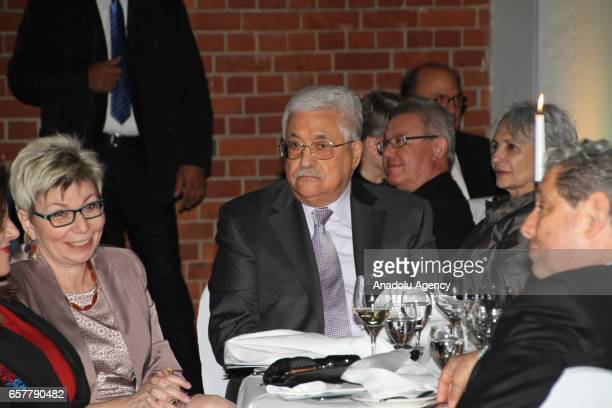 Palestinian President Mahmoud Abbas attends the 12th Steiger Award Ceremony in Dortmund Germany on March 25 2017