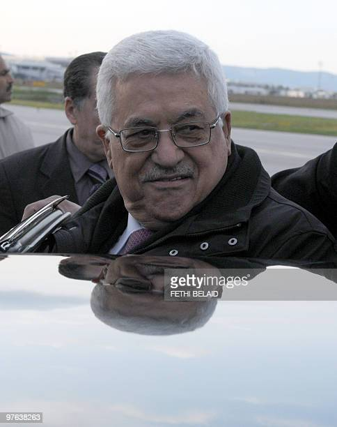 Palestinian President Mahmud Abbas arrives at Tunis Carthage International airport on March 11 for a two-day official visit. Between 1980 and 1994,...