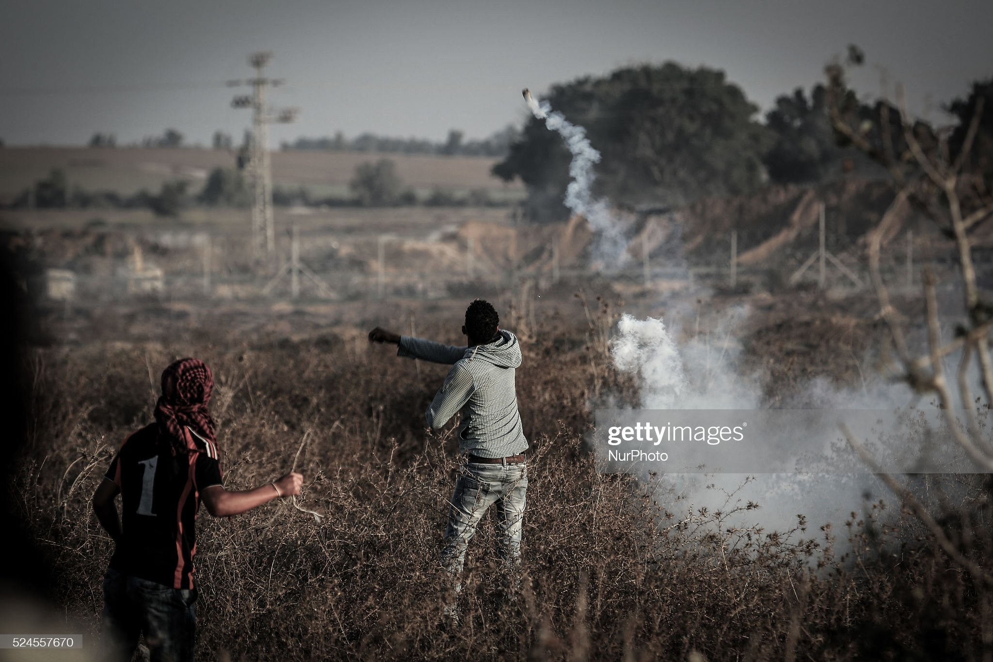Tension at Gaza-Israel border : News Photo