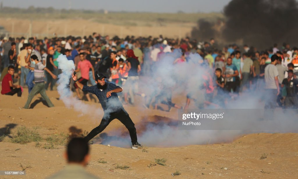 Clash With Israeli Forces Near The Border Fence