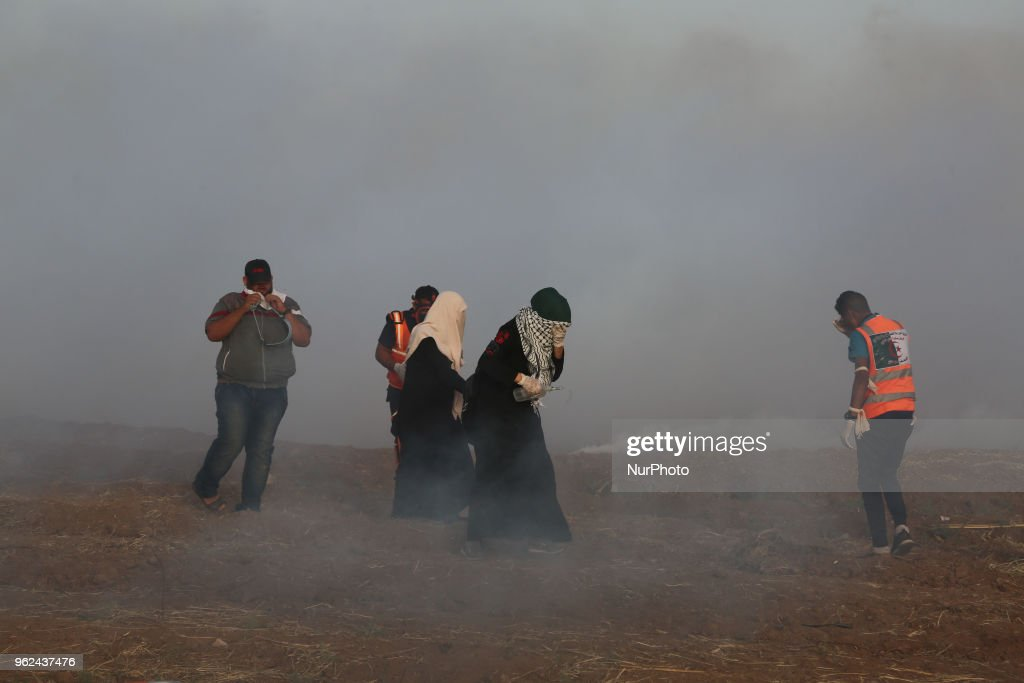 Protest At Gaza Strip's Border With Israel