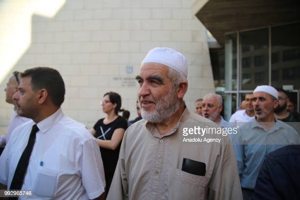 Palestinian resistance icon Raed Salah is seen as he leaves Haifa Criminal Court of Peace after Israeli court ordered the conditional release of him...