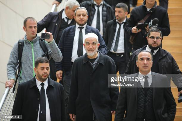 Palestinian resistance icon Sheikh Raed Salah gathers with supporters after an Israeli court sentenced him to 28 months in prison in the northern...