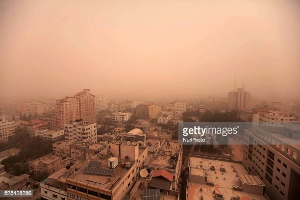 Limited visibility is seen during an unusual weather A massive sandstorm engulfed the Middle East affecting parts of Turkey Cyprus Syria Lebanon...