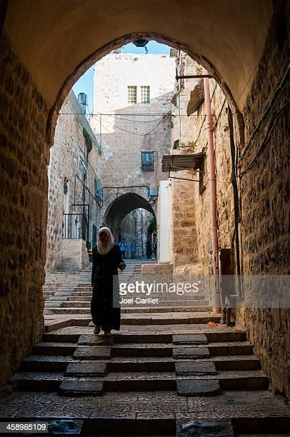 palestinians in jerusalem's old city - jerusalem stock pictures, royalty-free photos & images