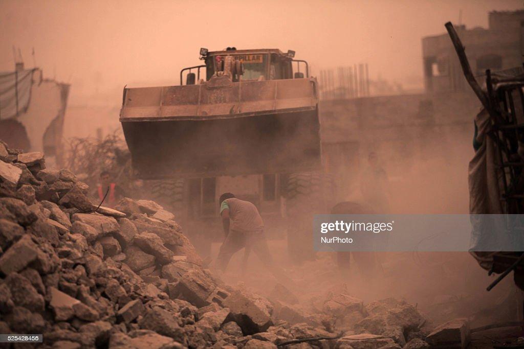 Strikes in neighbouring Syria : News Photo