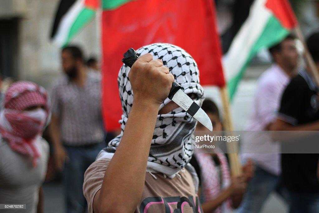 Anti-Israeli rally in Gaza : News Photo