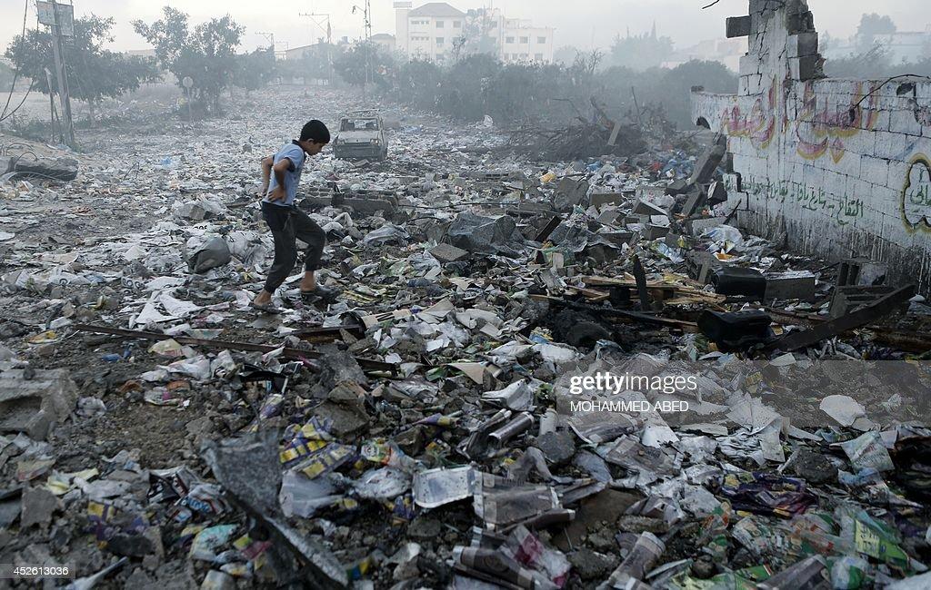 PALESTINIAN-GAZA-ISRAEL-CONFLICT : News Photo