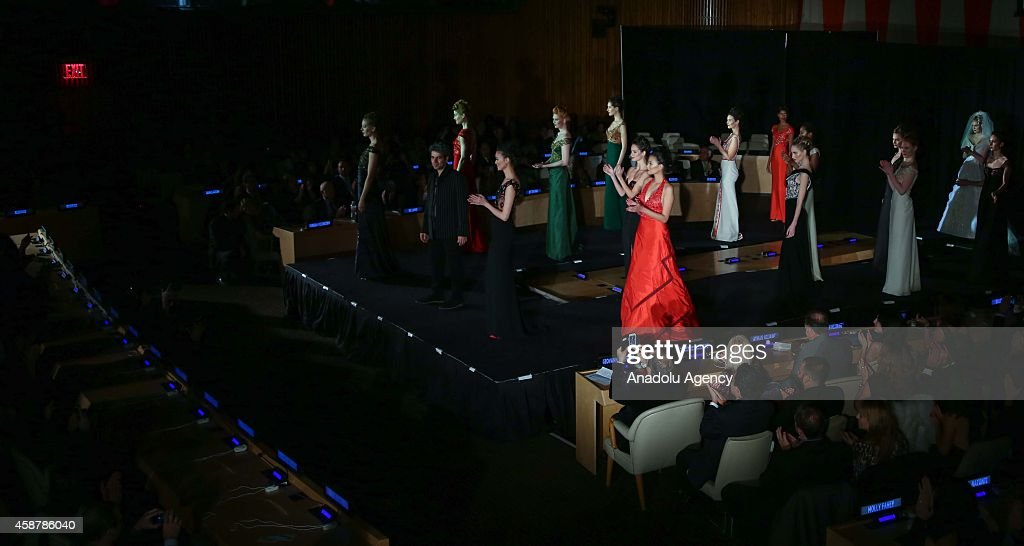 UN hosts solidarity Fashion Show for Palestinian People : News Photo