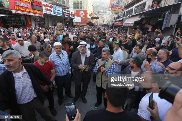 Palestinians attend celebrations marking Mawlid alNabi in Nablus West Bank on November 09 2019