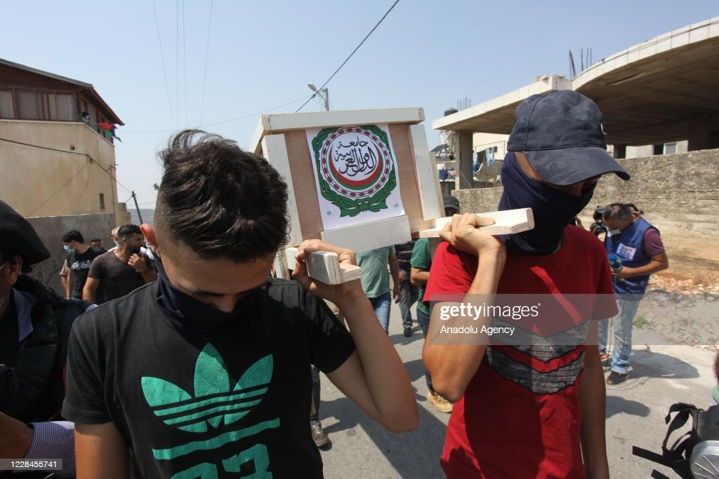 Demonstration against illegal Jewish settlement in West Bank : News Photo