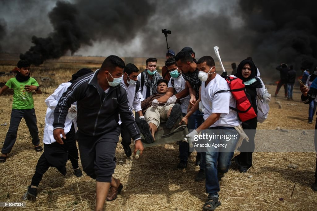 Palestinians Take Part In A 'Great March of Return' Demonstration In Gaza
