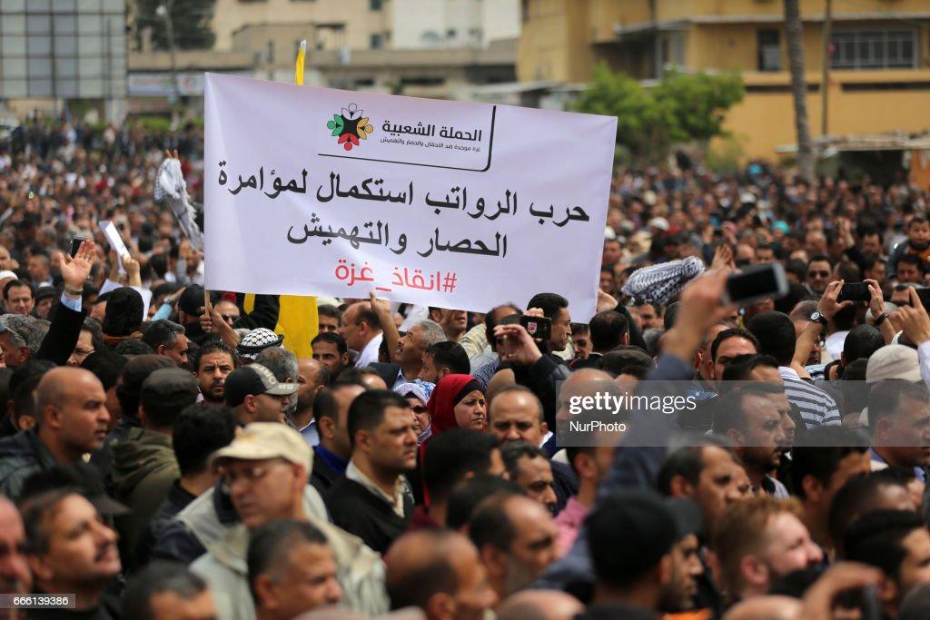 Protest in Gaza City : News Photo
