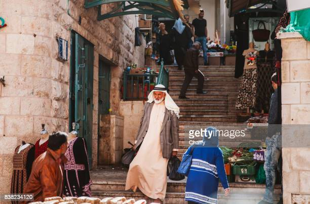 palestinians in a market in bethlehem,palestine. - palestinian stock pictures, royalty-free photos & images