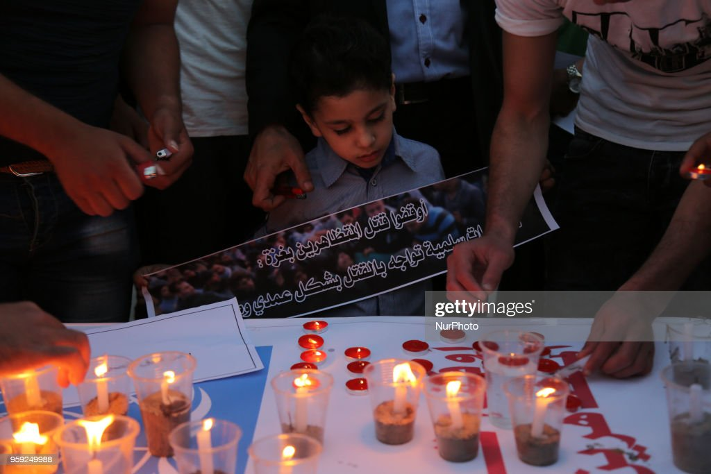 Light Candles Next To Un In Gaza City Photos And Images Getty Images