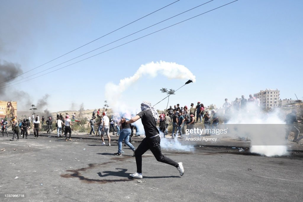 Palestinians in West Bank protest Israeli attacks : News Photo