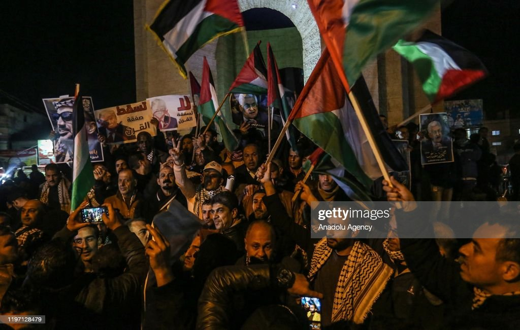 """Protest in Gaza against so-called """"Deal of the Century"""" : News Photo"""