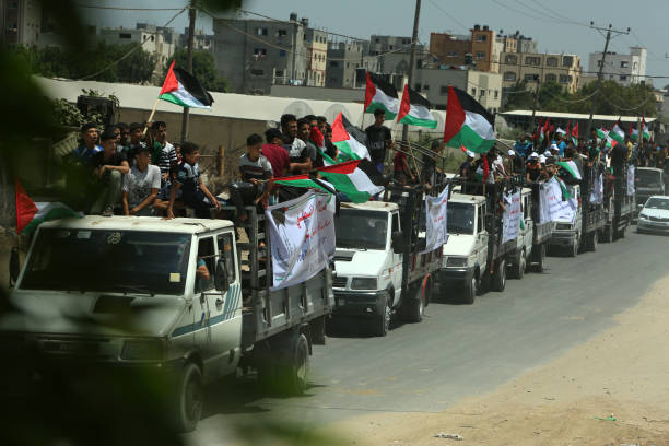 GZA: Palestinians Protest Calling The End Of The Israeli Blockade