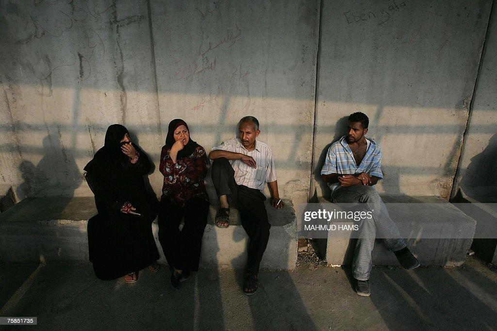 MIDEAST-GAZA-EGYPT-BORDER : Nachrichtenfoto