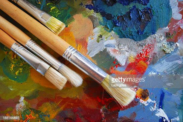 Palette and Brushes Background