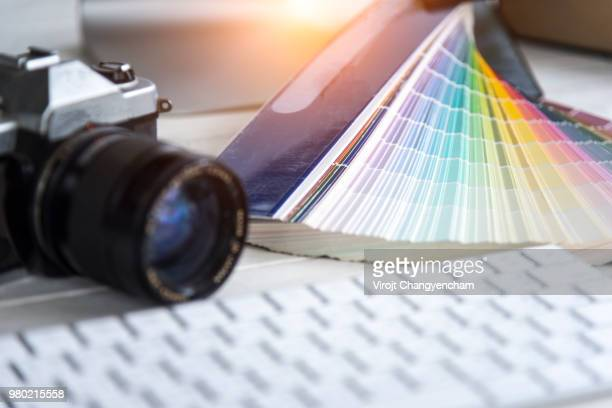 palette color - logo design stock photos and pictures
