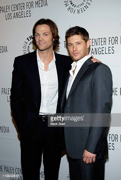 Paley Center for Media's PaleyFest 2011 event honoring Supernatural with costars actor's Jared Padalecki and Jensen Ackles arriving at Saban Theatre...