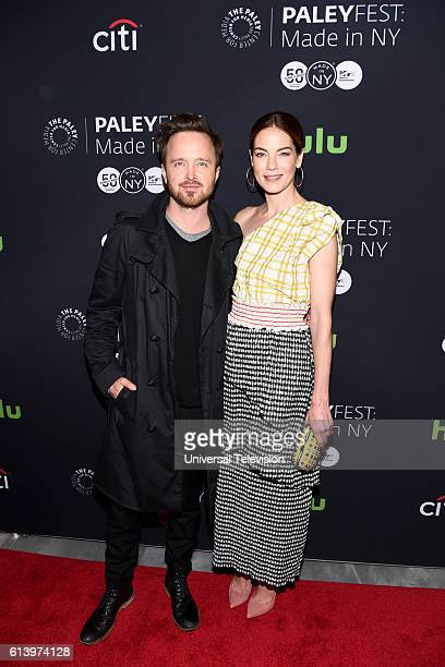 THE PATH Paleyfest Made in NY Pictured Aaron Paul and Michelle Monaghan at The Paley Center for Media's Paleyfest Made in NY on Sunday October 9 2016...