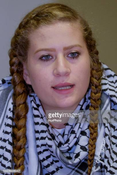 Paliestinian activist Ahed Tamimi during their meeting at Casa de la Villa in Madrid Spain 28 September 2018