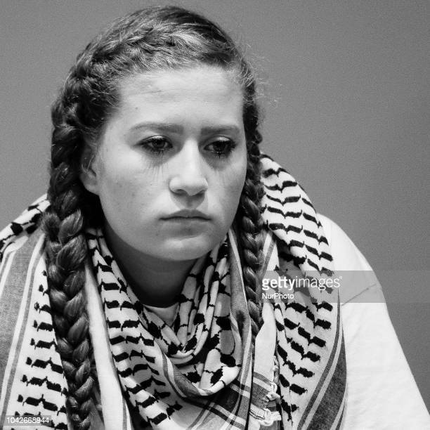 Paliestinian activist Ahed Tamimi during their meeting at Casa de la Villa in Madrid Spain 28 September 2018