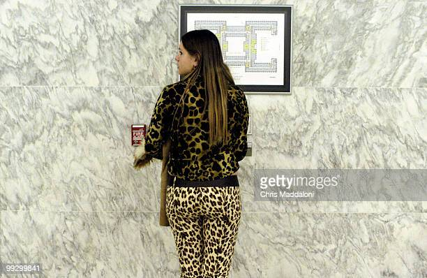 Palina Krapivina from Minsk Belorussia looks at a map in the Rayburm building to get her bearings She was visiting the Capitol as part of the CLOSEUP...