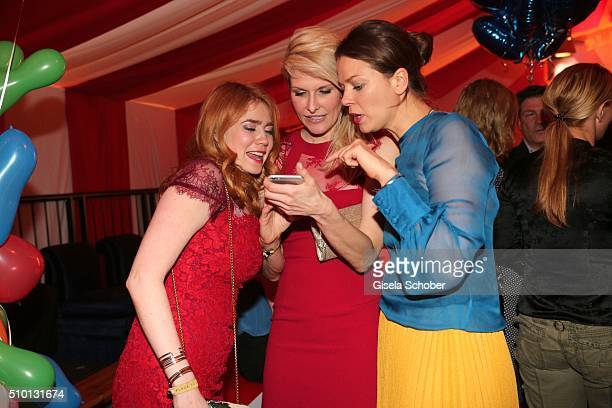 Palina Rojinski and Natascha Gruen and Jessica Schwarz during the Bild 'Place to B' Party at Borchardt during the 66th Berlinale International Film...