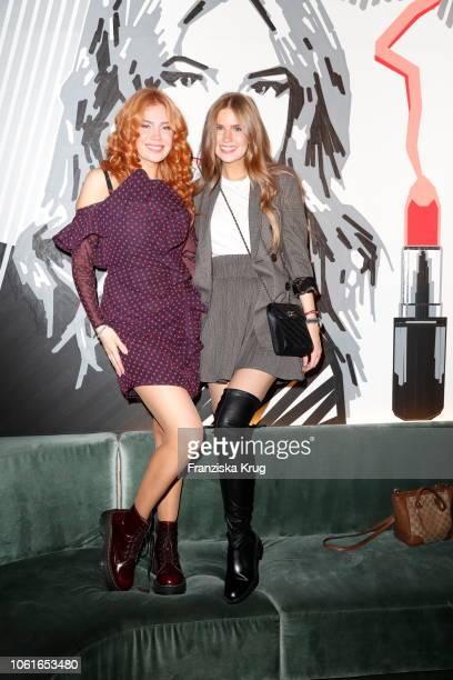 Palina Rojinski and Vivienne Rojinskiduring the MAC Cosmetics x Palina Rojinski cocktail party on November 14 2018 in Berlin Germany