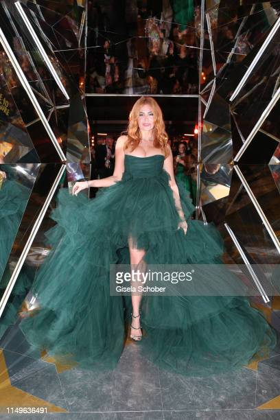 Palina Rojinski arrives at the MAGNUM x Rita Ora Party during the 72nd annual Cannes Film Festival on May 16 2019 in Cannes France