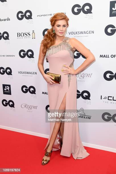 Palina Rojinski arrives for the 20th GQ Men of the Year Award at Komische Oper on November 8 2018 in Berlin Germany