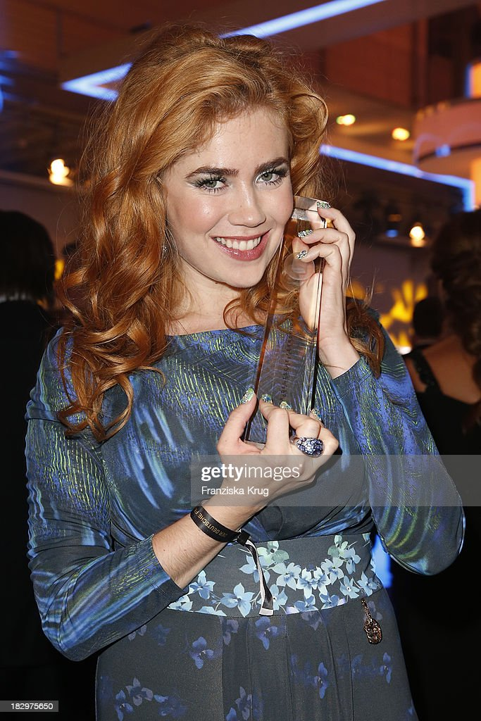Palina Rojinski attends the Deutscher Fernsehpreis 2013 - After Show Party at Coloneum on October 02, 2013 in Cologne, Germany.