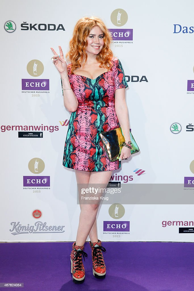 Palina Rojinski attends the Echo Award 2015 on March 26, 2015 in Berlin, Germany.