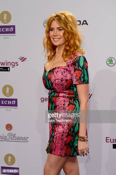 Palina Rojinski attends the Echo Award 2015 Red Carpet Arrivals on March 26 2015 in Berlin Germany