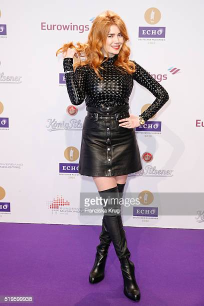 Palina Rojinski attends the Koenig Pilsener At Echo Award 2016 on April 07 2016 in Berlin Germany