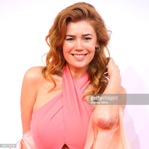 Palina Rojinski attends the Lola German Film Award red carpet at Messe Berlin on April 27 2018 in Berlin Germany