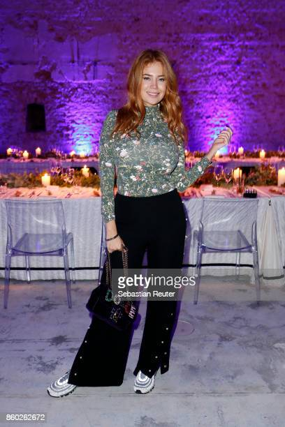 Palina Rojinski attends the Moncler X Stylebopcom launch event at the Musikbrauerei on October 11 2017 in Berlin Germany