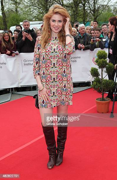 Palina Rojinski attends the reception for the 50th Grimme Award at Theater an der Stadt on April 4 2014 in Marl Germany