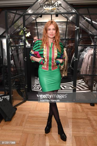 Palina Rojinski attends the Wolfskin Tech Lab x Gianni Versace retrospective opening event at Kronprinzenpalais on January 30 2018 in Berlin Germany