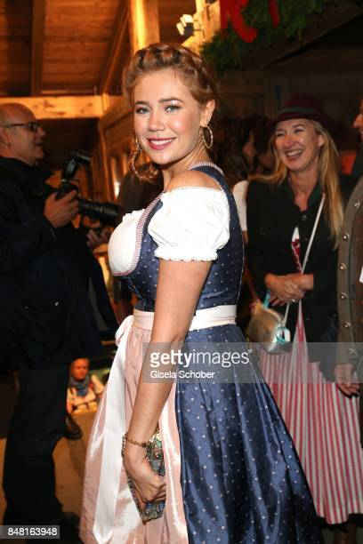 Palina Rojinski during the opening of the Oktoberfest 2017 at Kaeferschaenke at Theresienwiese on September 16 2017 in Munich Germany