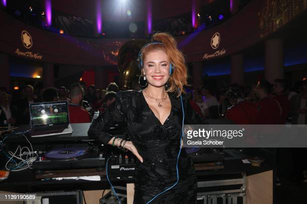 """Palina Rojinski during the """"To Berlin and Beyond with Montblanc: Reconnect To The World"""" launch event at Metropol Theater on April 24, 2019 in..."""
